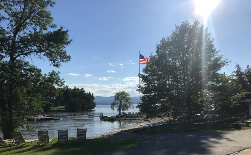 gorgeous views of Lake Champlain at the Basin Harbor beach #familyvacation #vermont