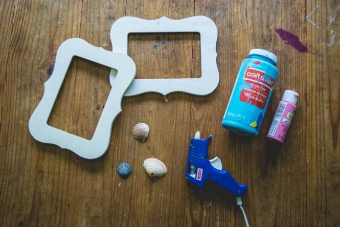 Wrangle Your Kids' Seashell Collection- DIY seashell frame supplies