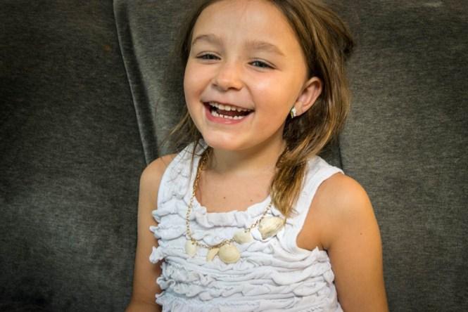 Wrangle Your Kids' Seashell Collection- DIY seashell necklace