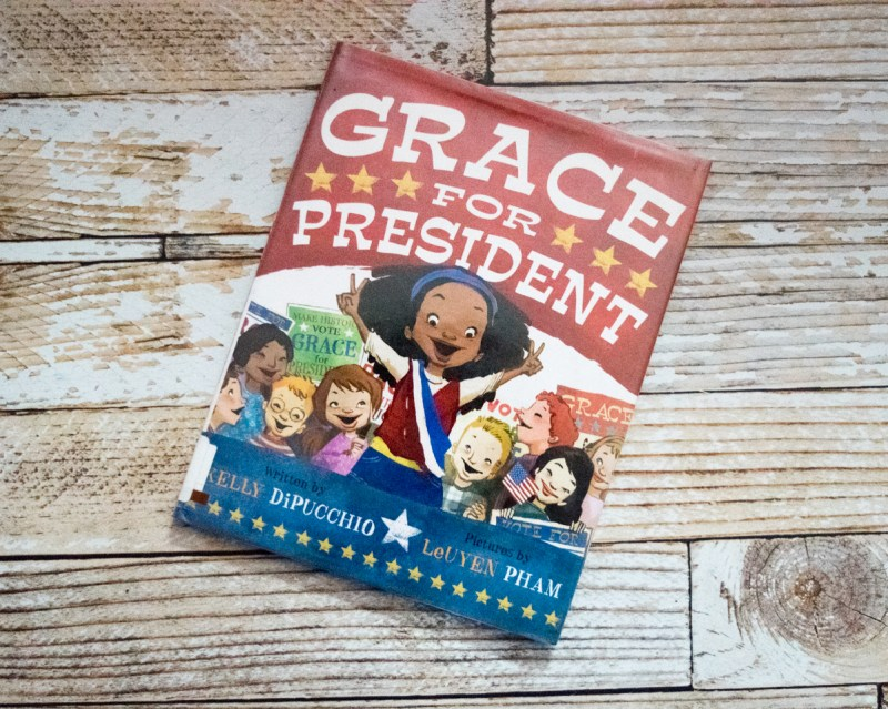 Black History Month - diversity in kids picture books - children's books starring African American characters - Grace for President by Kelly DiPucchio