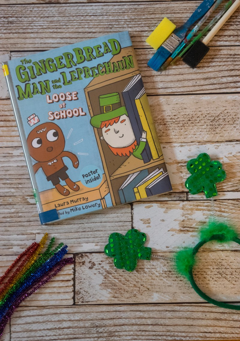 The Gingerbread Man and the Leprechaun Loose at the School - Book and craft - St. Patrick's Day activity - leprechaun trap