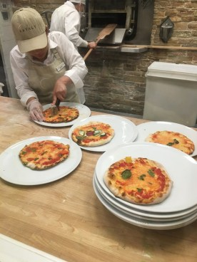 Eataly party pizza fresh from the oven