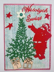 Mikołaj przy choince