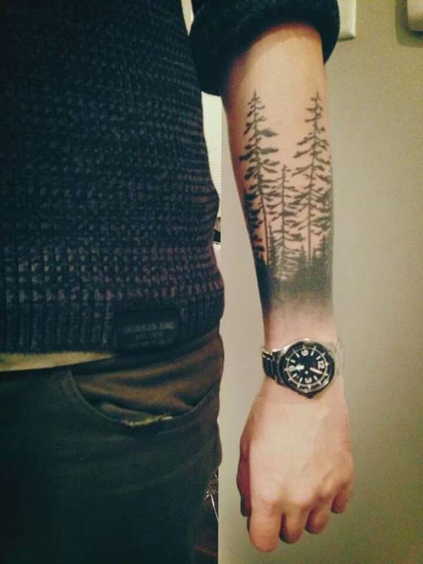 Pine Tree Forest Tattoo : forest, tattoo, Inspirational, Forest, Tattoo, Ideas, Cuded