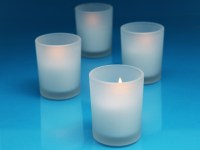 Cudge.net - Frosted Glass Votive Candle Holders - Case of 72