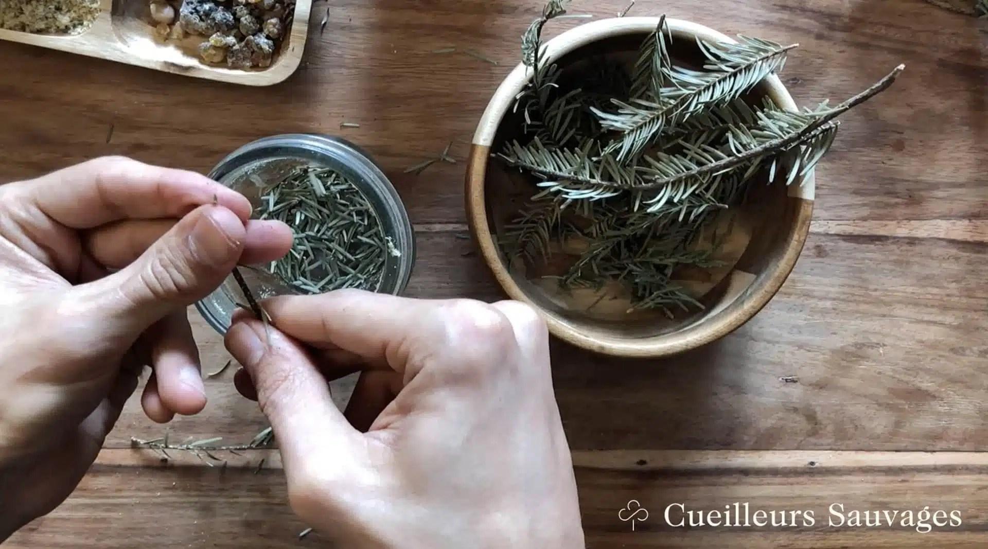 Formation sur la fabrication de l'encens: préparation des bâtons