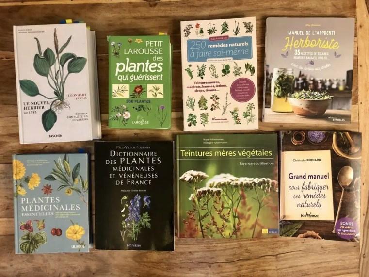 Selection de livres sur les plantes médicinales. Cueilleurs sauvages
