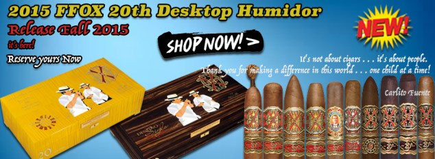 2015 Limited Edition FFOX 20th Anniversary Father and Son Humidors by Prometheus