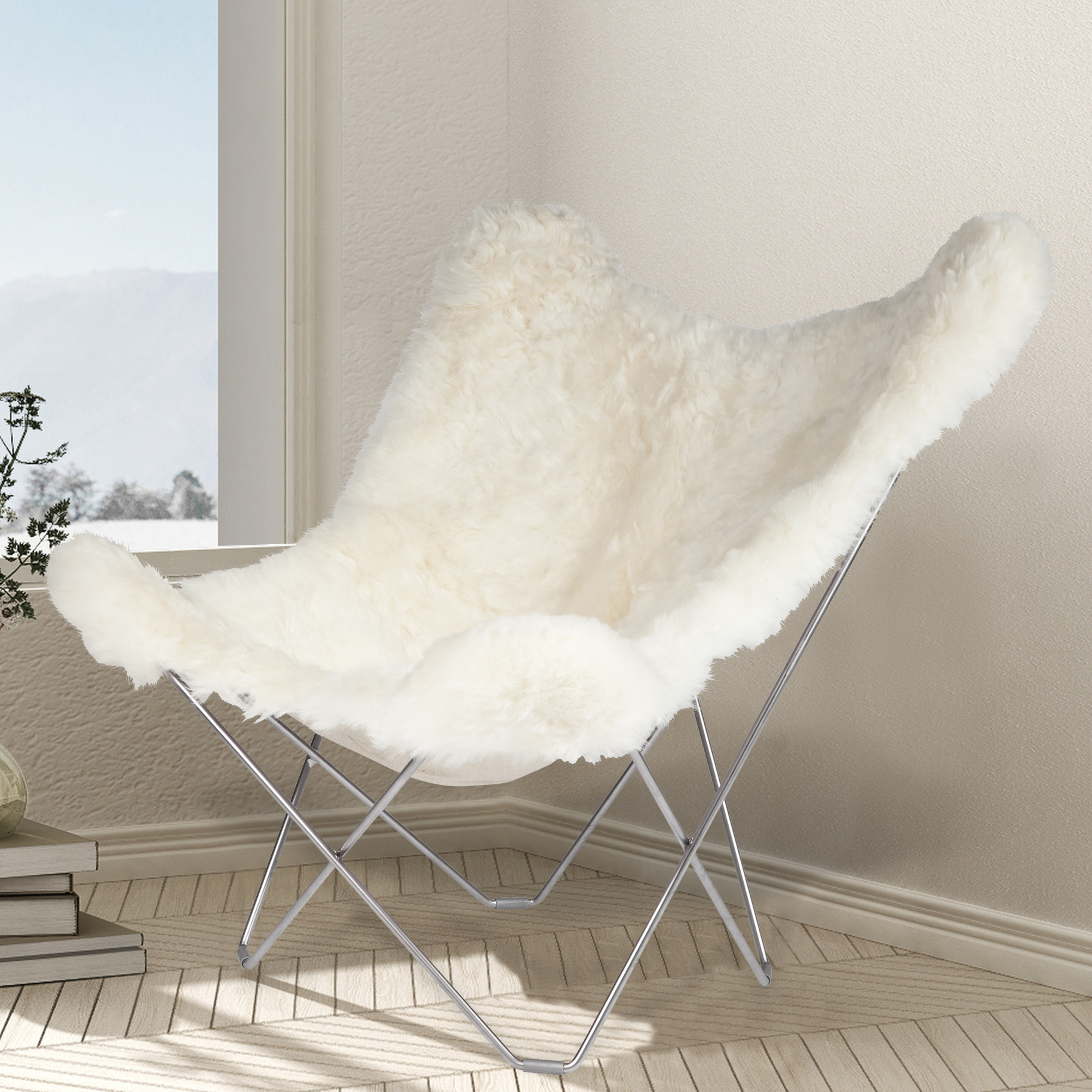 Fur Butterfly Chair Sheepskin Butterfly Chair Iceland Mariposa