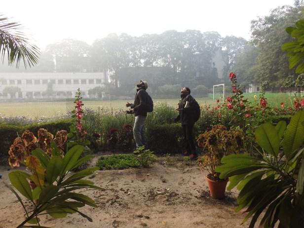 Birders at Karampura Campus (Credit: Fizala Tayebulla)