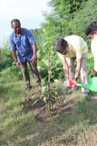 Prof Menon and Dr. Suresh Babu at DWP Plantation Drive