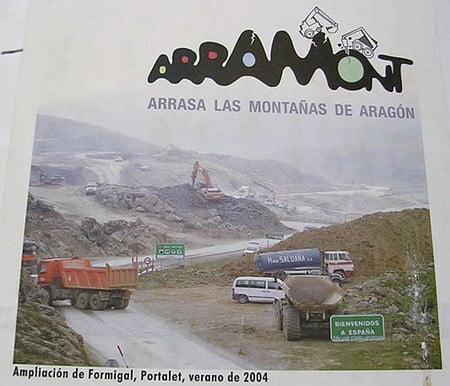Aramon arrasando las montañas de Aragón 7