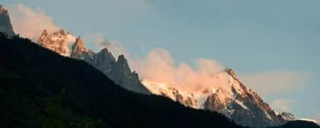 panoramica alpes chamonix auguille du midi montblanc