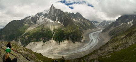 mer de glace, glaciar retroceso cambio climatico