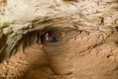 Tunel cruzando la sierra El Forat