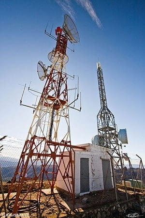 Antenas en la cumbre