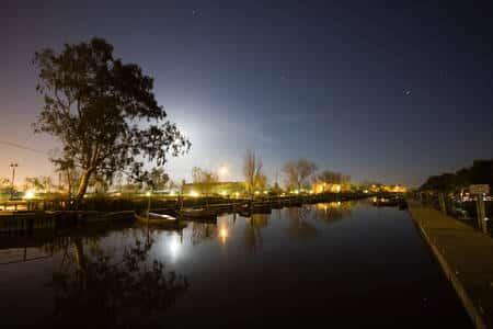 Puerto de Catarroja con luna llena 2