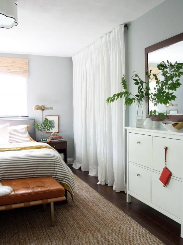 Curtain Call closet door