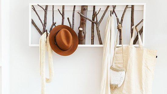 Pine Cap hat Rack