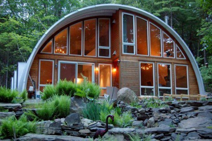 The typical Quonset hut home