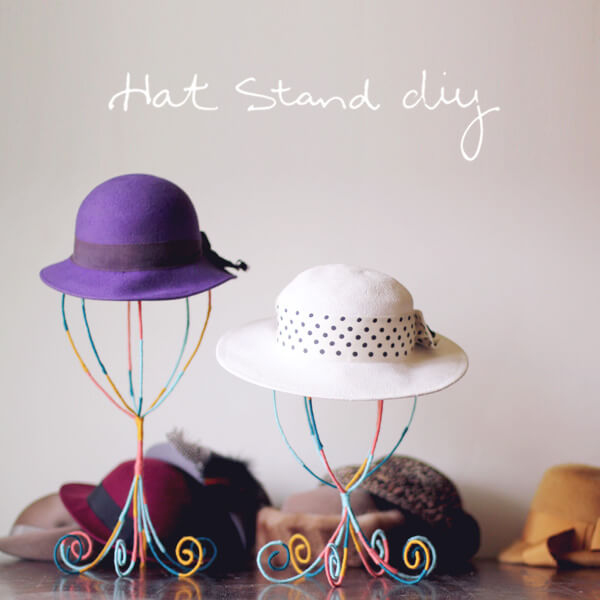 diy Colorful Hat Stand