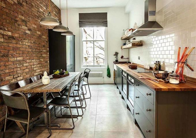 Small kitchen Industrial Chic