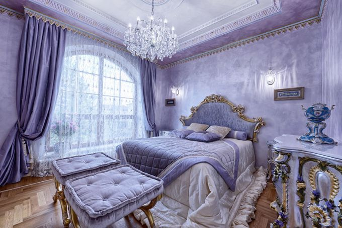 luxury-french-inspired-purple-bedroom-with-gold-gilded-furniture-and-crystal-chandelier