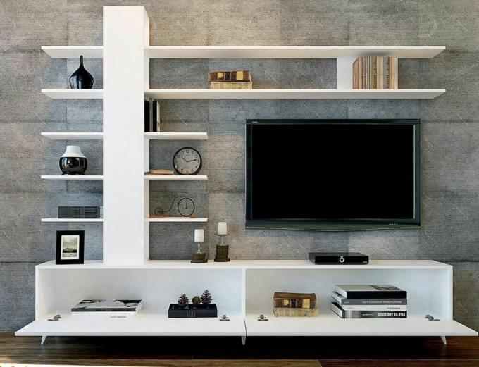 tv wall mount with Floating Racks