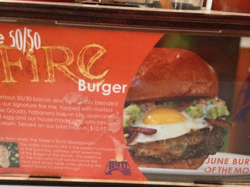 June 2013 Burger of The Month at Slater's 50/50