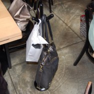 Purse Stand at Loteria Grill