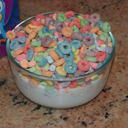 Fruit Loops with Fruity shaped Marshmallows