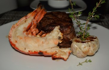 Bison & Lobster at Oliver's Prime