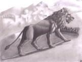 León en las montañas