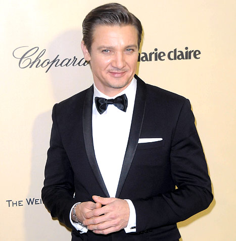 Jeremy Renner with cufflinks