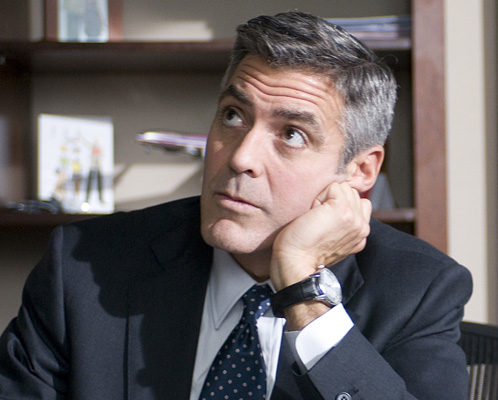 George Clooney with cufflinks