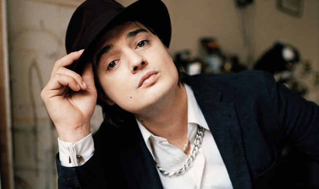 Pete Doherty with cufflinks