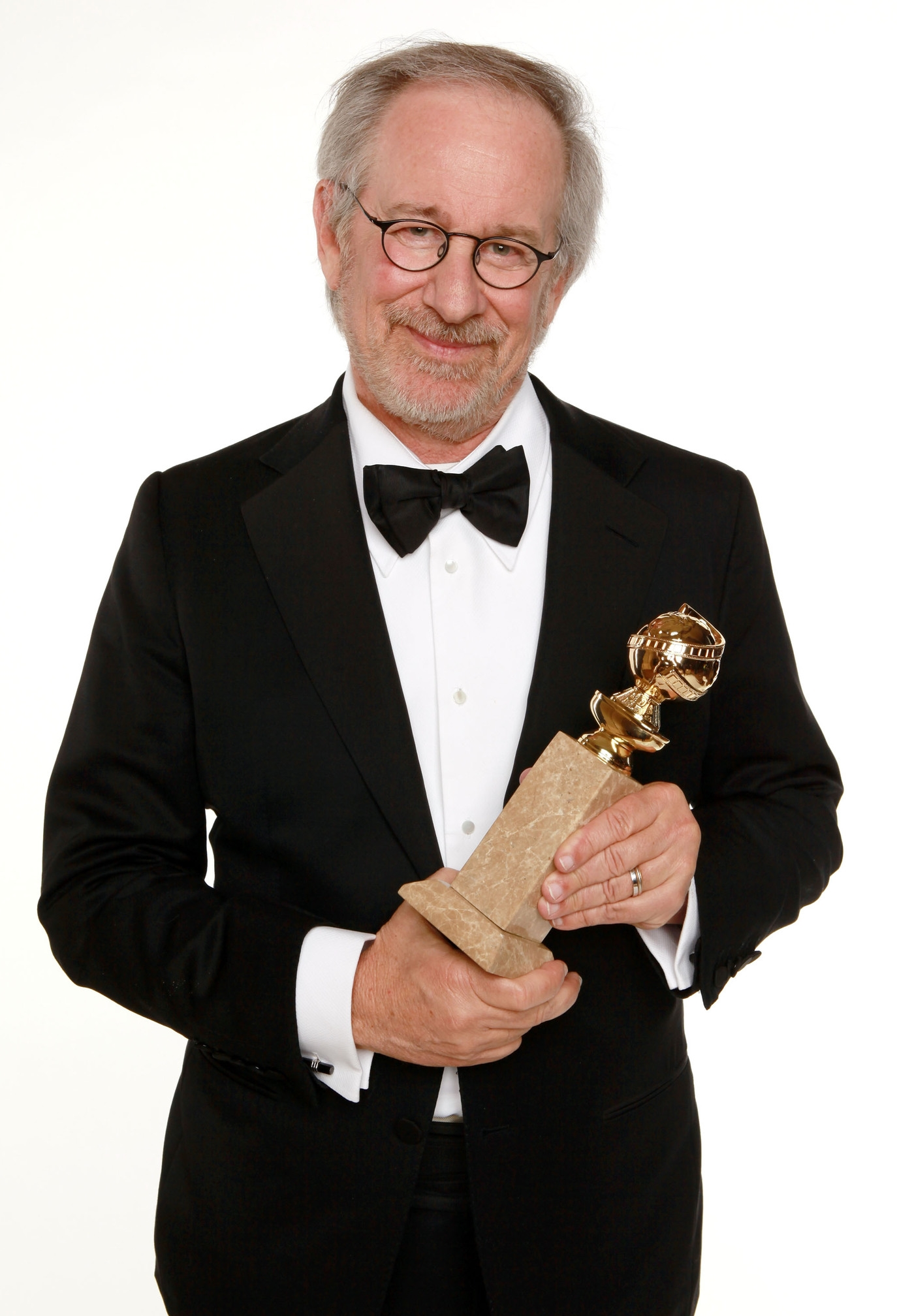Steven Spielberg with cufflinks