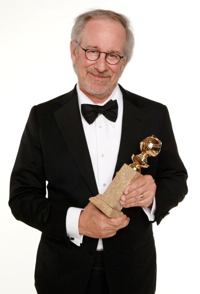 Steven Spielberg with cufflinks