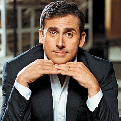 Steve Carell with cufflinks