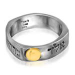The five-metal ring often took the form of a sterling silver ring with shards of gold, tin, lead, and copper