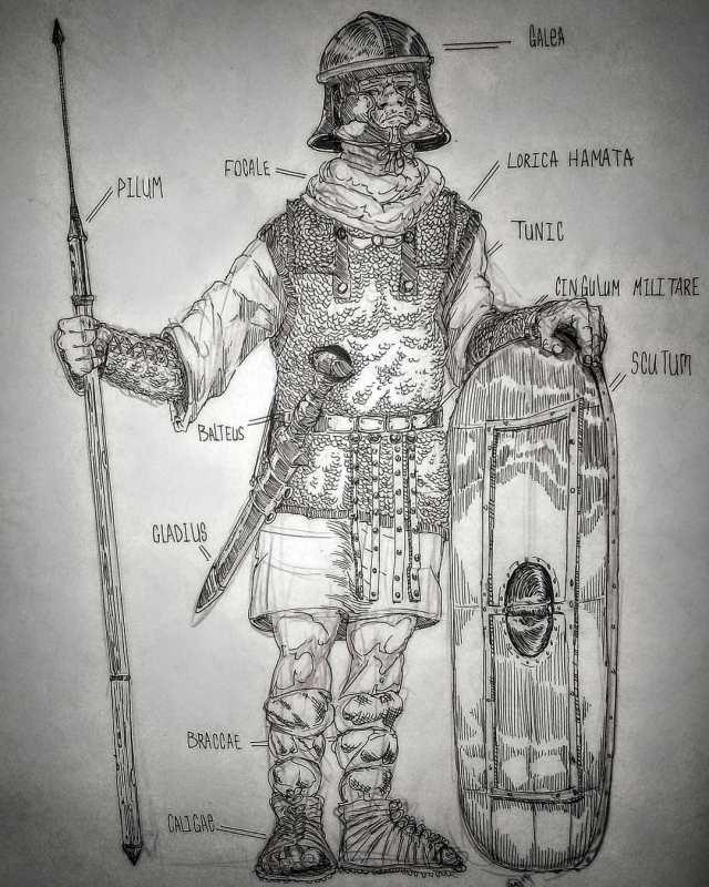 EVOLUTION OF TROUSERS(braccae), Roman legionaries! romanarmor mariusreforms braccae galae pilum gladius scutum balteus tunic focale caligae militare