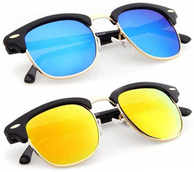 Phenomenal  UV Protection, Mirrored Clubmaster Sunglasses Stylish Fake Glasses for Men