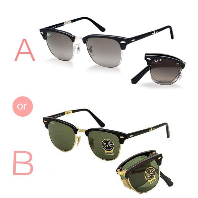 RB2176 Clubmaster - Stylish Fake Glasses for Men