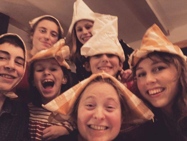 napkin hat tradition family xmas - sailor hats