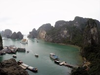 View from cave at Halong Bay, March 2017