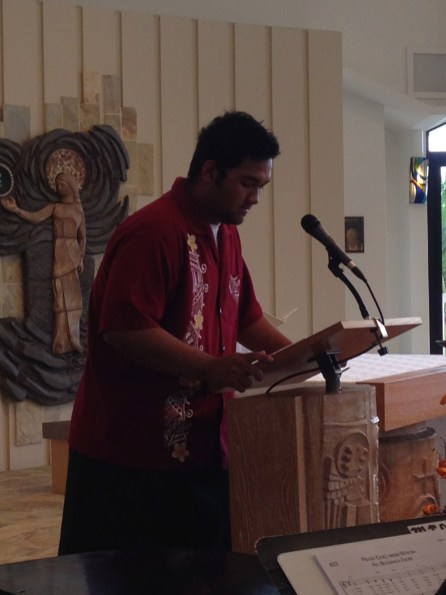 Sepu leads us in our prayer intercessions.