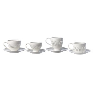 Cups And Saucers Pierced