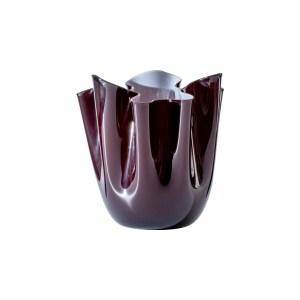 Vaso Rosso Sangue Rosa Fazzoletto 13,5x13,5