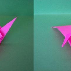 Simple Origami Flying Crane Diagram 2001 Toyota Camry Engine
