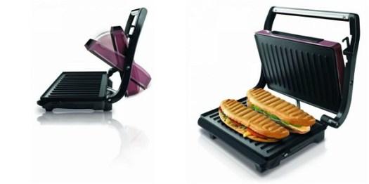 sandwich maker cu grill taurus toast & co pentru preparat sendvisuri, hamburgeri, baghete, hotdog